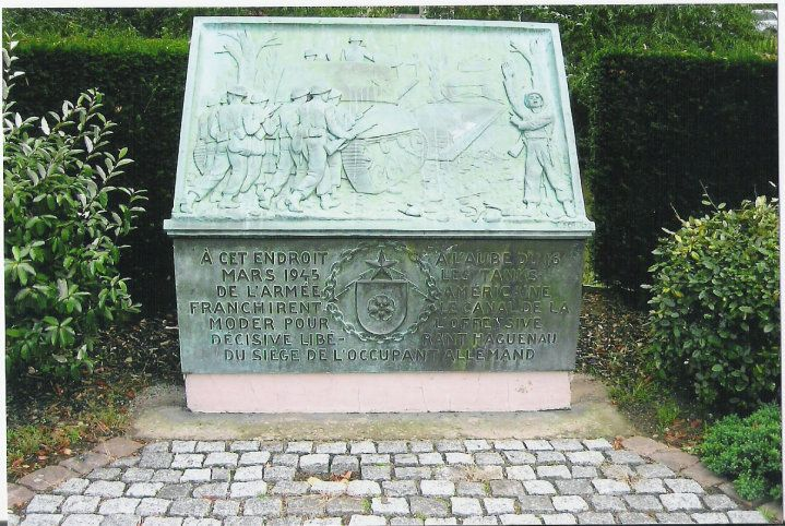 ∞  Memorial to soldiers who fought in Haguenau France WWII