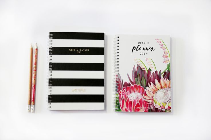 Sammy Sheppard Diaries 2017-weekly planner with addes sections for lists and more!