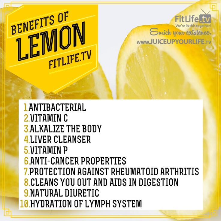 Benefits of lemon...