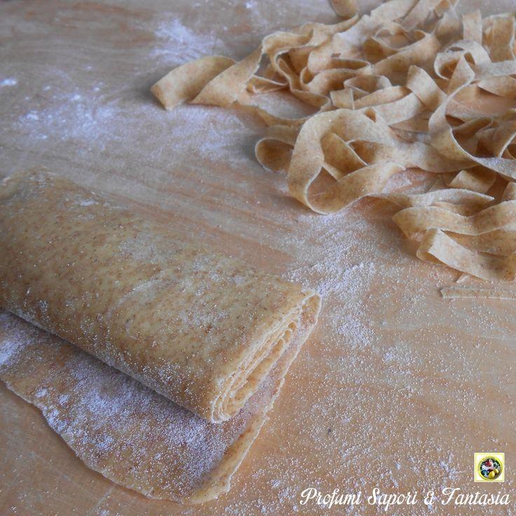Pasta fresca integrale con semola, doppia ricetta