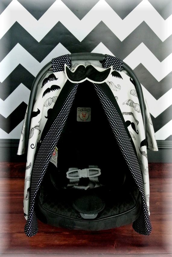 MUSTACHE carseat canopy car seat cover black by JaydenandOlivia & 56 best Boys Baby Carseat Canopy images on Pinterest | Baby cars ...