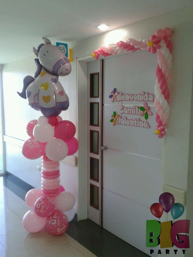 Arreglo bebe globos bebe newborn balloons decoraciones en la cl nica pinterest - Decoraciones para bebes ...