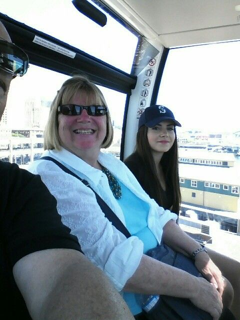 Ammy and Chloe on Seattle's wheel