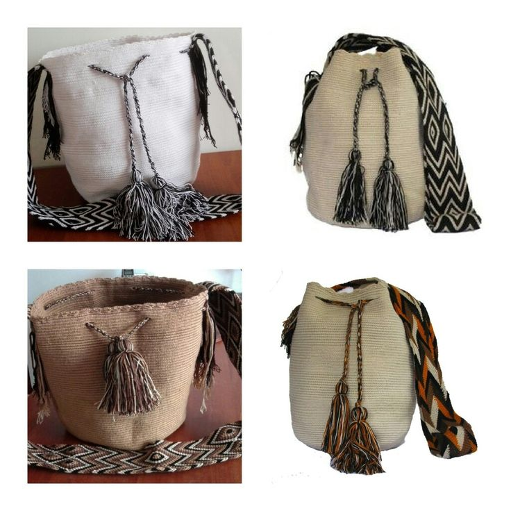 Wayuu Bags White and Beiges Colors Perfect to wear any time