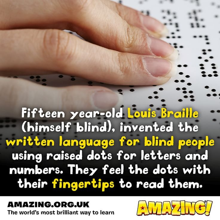 It's time for a #FantasticFact! Louis Braille was only 15 when he invented the tactile alphabet - now we even have a Braille Olympics where over 1,400 students test their reading skills!  Find out more like this at amazing.org.uk