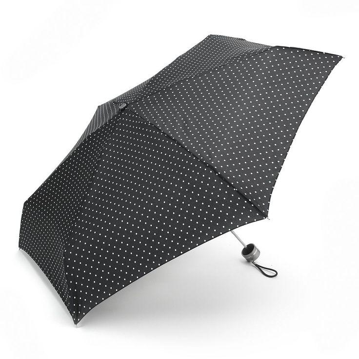 Totes Fashion Mini Folding Umbrella, White Oth