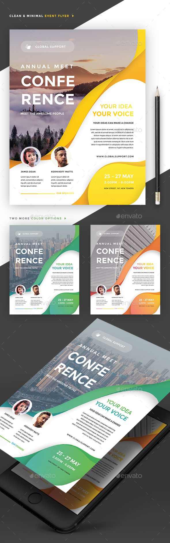 #Event Summit Conference #Flyer - Events Flyers Download here: graphicriver.net/...
