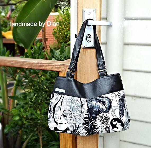 BG Bag PDF Sewing Pattern handbag and Beach Bag sizes