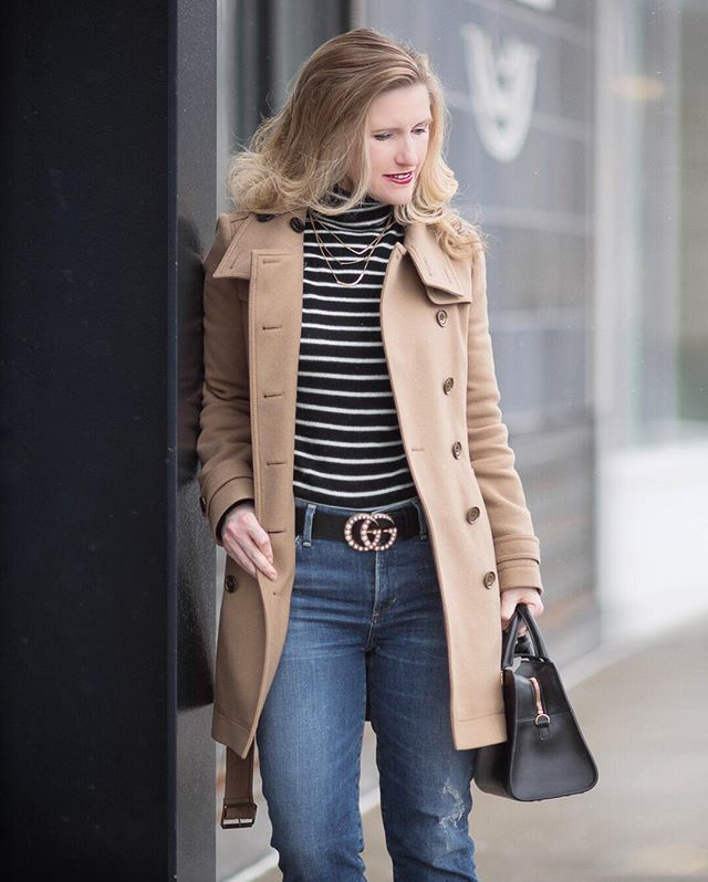 New post on this snowy Monday morning. Link in profile. It's back to the basics with this lovely striped cashmere sweater. You can never go wrong with stripes! Better yet, it is on sale! And everything else I'm wearing is remixing things I've already had