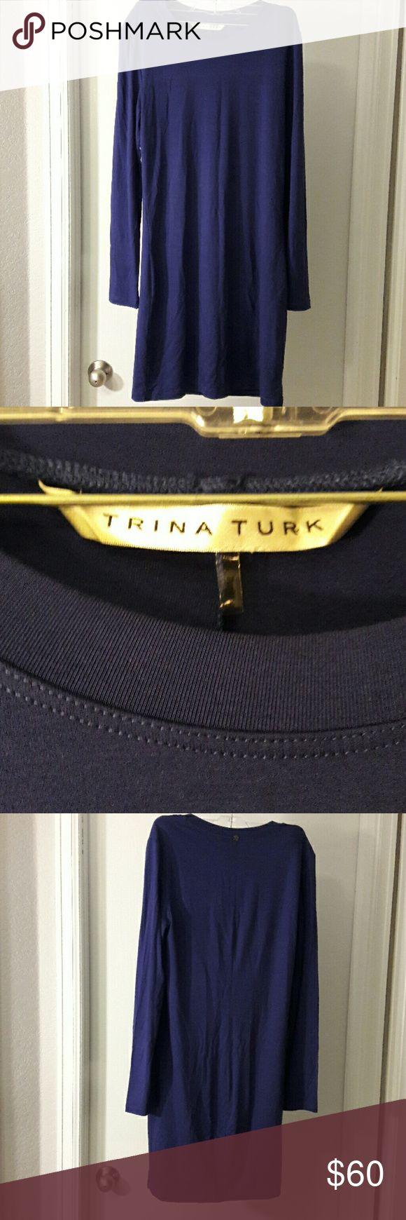 Colbalt Blue Trina Turk Blue Long Sleeve Dress NWOT Colbalt Blue Trina Turk Long Sleeve Dress Size Small 34 inches long Super soft! Trina Turk Dresses Long Sleeve