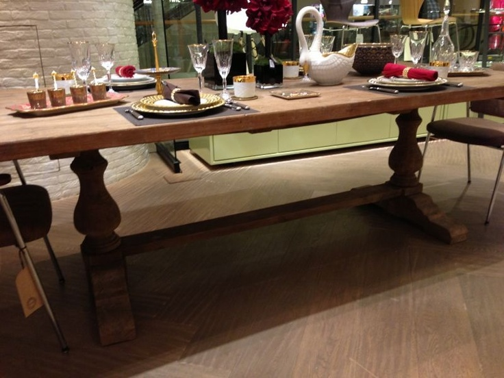 raw wood table from lane crawford