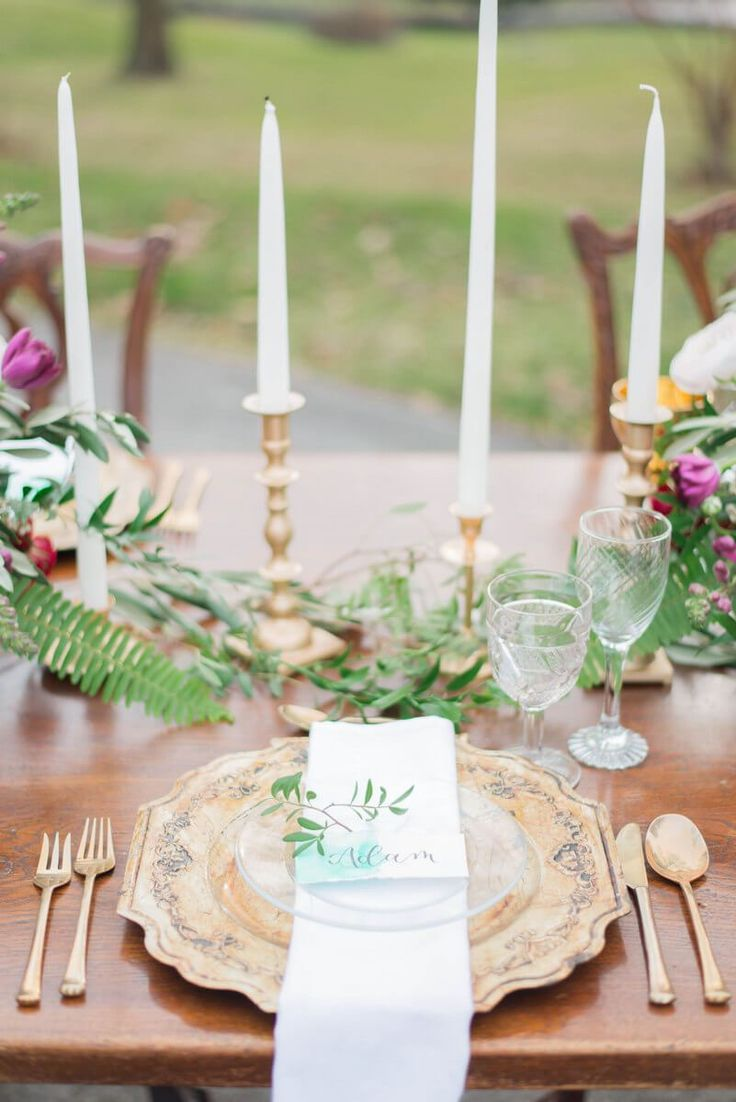 Gold vintage place setting | Norfolk County Wedding Styled Shoot | Canada Wedding Style | Ontario Wedding Style | KnotsVilla