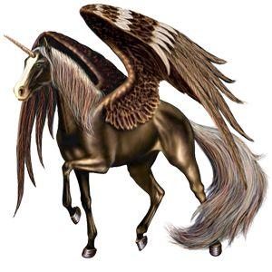 Winged unicorn Standardbred Chestnut
