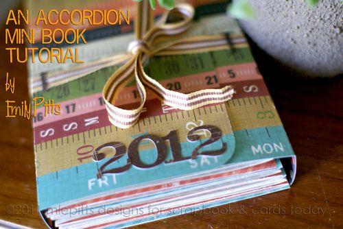 Accordian fold mini album