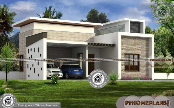 Modern House Design One Floor Best Contemporary Style Flat Roof Plan Kerala House Design Modern House Design Best Modern House Design