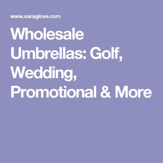 Wholesale Umbrellas: Golf, Wedding, Promotional & More