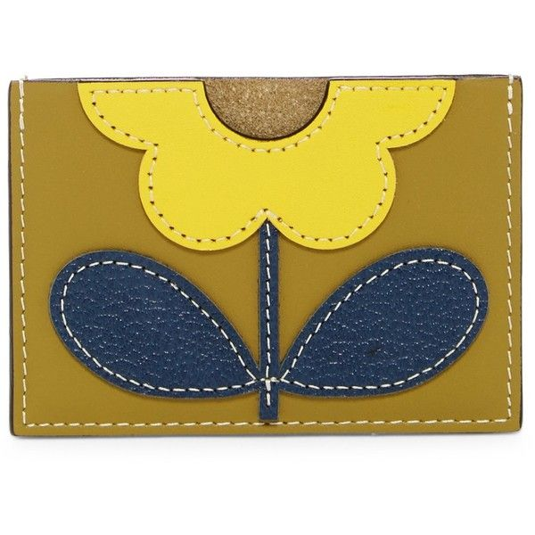 Orla Kiely Giant Flower Leather Card Holder (€34) ❤ liked on Polyvore featuring bags, wallets, moss, yellow wallet, genuine leather wallet, leather wallets, leather card case wallet and yellow leather bag