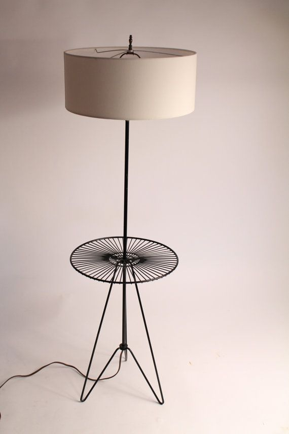 50s hairpin floor lamp wire wrought iron in by. Black Bedroom Furniture Sets. Home Design Ideas
