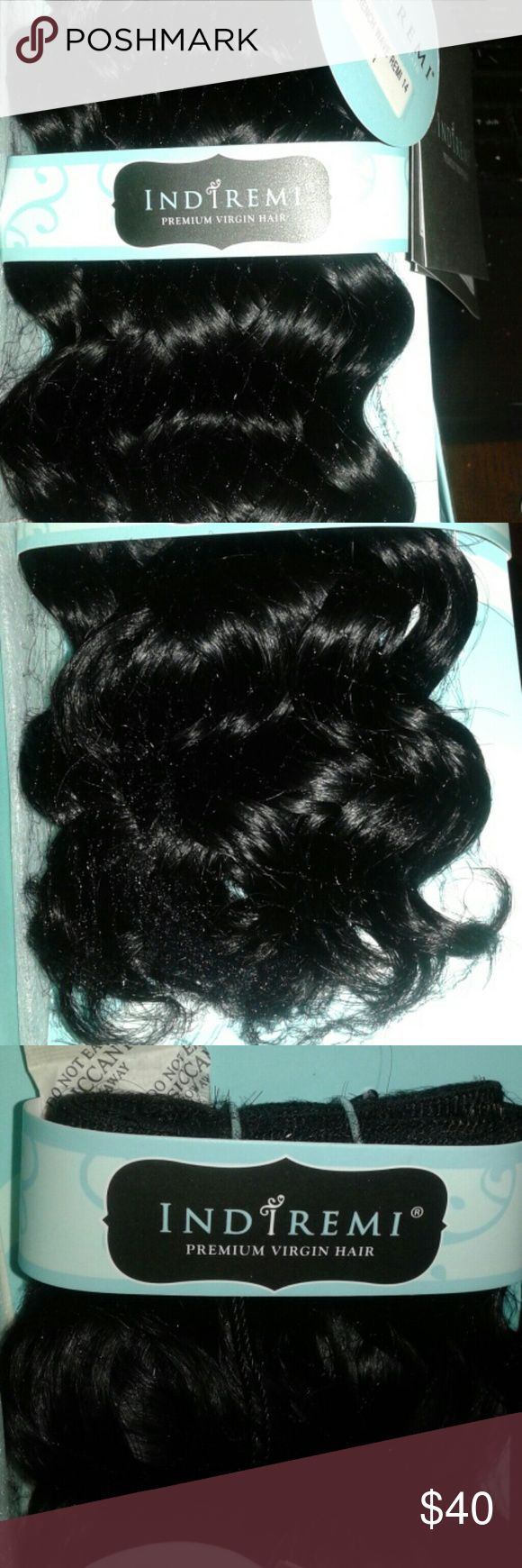 "Bobbi Boss Indiremi French Wave 14"" #1 Never unwrapped & in its original package with tags. Color is #1(Jet Black). Can be washed numerous times. It can also be flat-ironed, hot curled, blow-dried, and roller set. 14"" in length. When wet, those chunky curls relax into a relaxed & wavy look. Bobbi Boss  Accessories Hair Accessories"