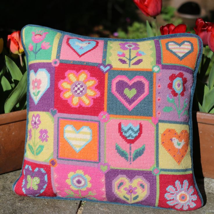 Summer Patchwork tapestry, a perfect holiday craft project.