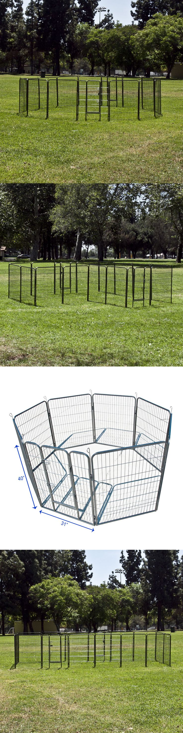 Fences and Exercise Pens 20748: Lot 2 Cage Pet Puppy Dog Run Barrier Fence Play Pen Kennel Steel Panel Playpen -> BUY IT NOW ONLY: $319.99 on eBay!