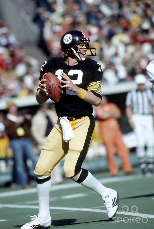 Pittsburgh Steelers quarterback (12) Terry Bradshaw .