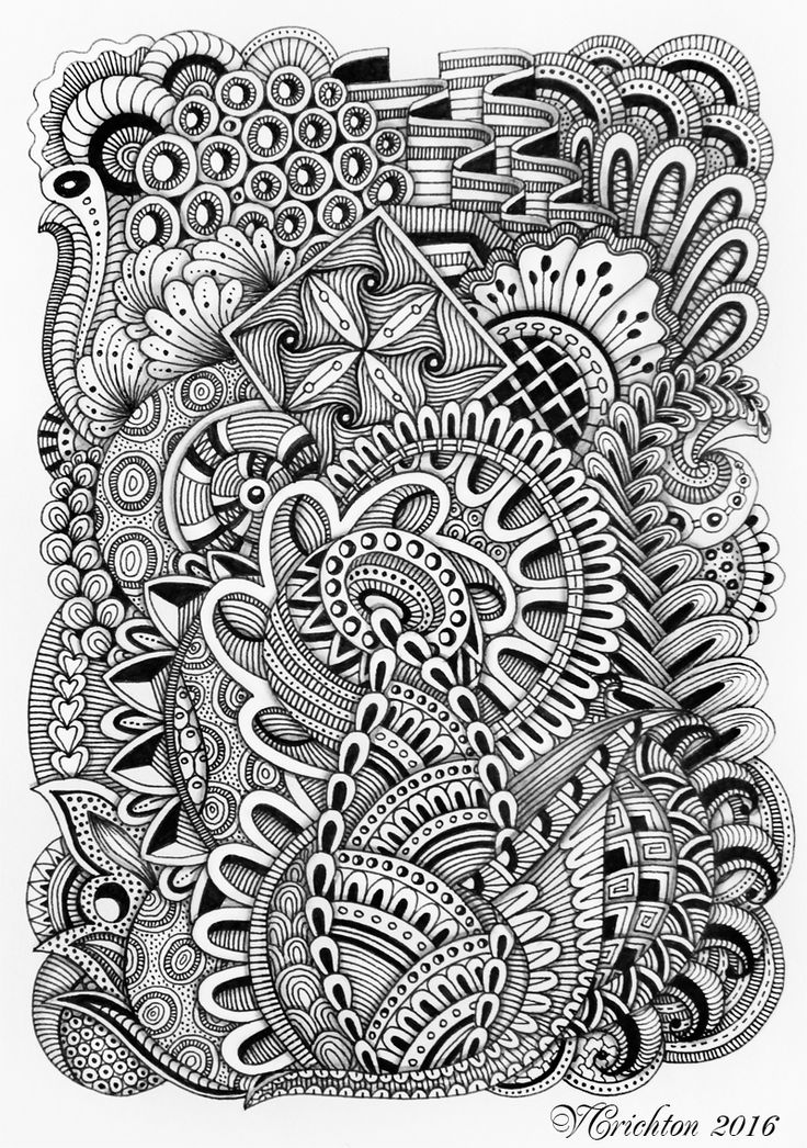 Viktoriya Crichton Ukraine Nikolaev Zentangle