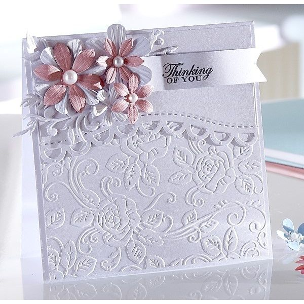 Crafters Companion Sara Signature Floral Delight Collection - Scalloped Border Die