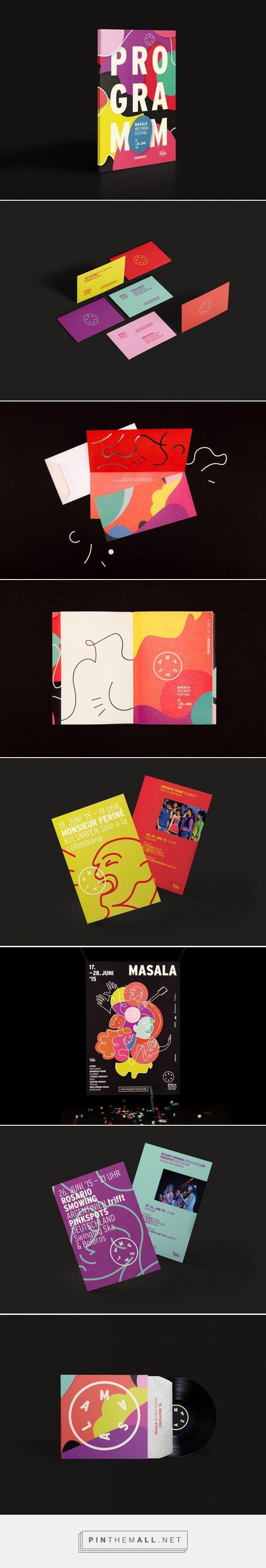 Masala Weltbeat Festival Branding by Hardy Seiler