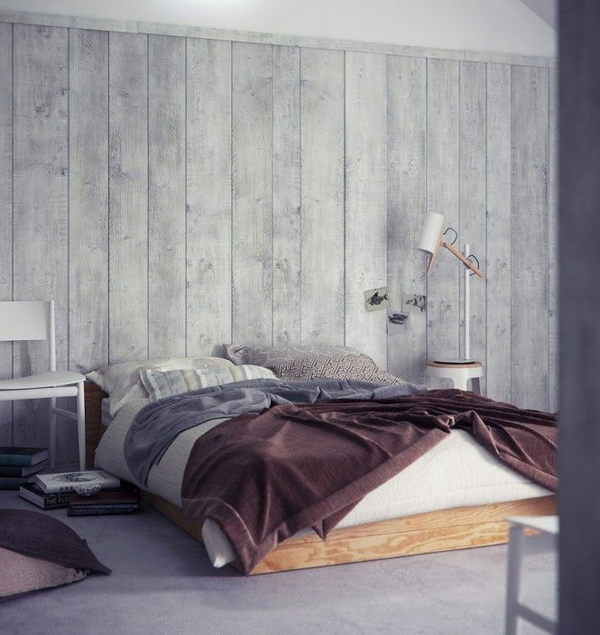 wood panel walls. perfect bed side lamp. perfect bed sheets and pillows. perfect colours. perfect perfect perfect.