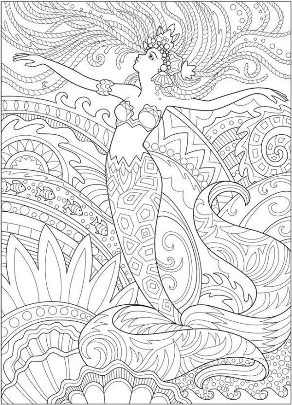 5 Mermaid Coloring Pages Mermaid Coloring Pages Abstract Coloring Pages Fairy Coloring Pages
