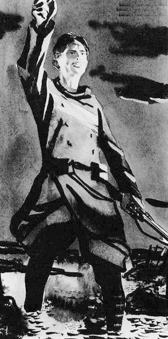 Художник Александр Дейнека. Иллюстрации. «Когда, наконец, окончится война». Иллюстрация к книге Анри Барбюса «В огне».. 1934