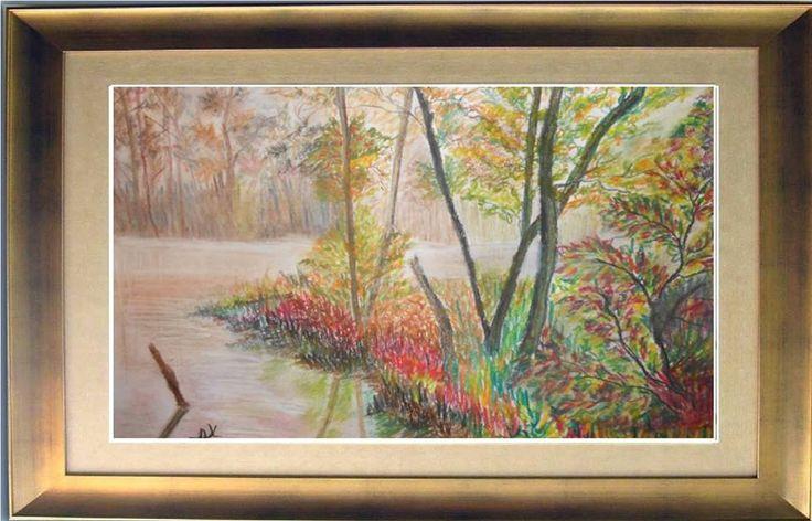 στο δάσος..... ΖΩΓΡΑΦΙΚΉ ΜΕ ΚΆΡΒΟΥΝΟ ΧΡΩΜΑΤΙΣΤΟ.... ΣΕ ΜΠΛΟΚ ΑΚΟΥΑΡΕΛΑΣ 50x30 cm  the forest ..... PAINTING WITH COAL COLORED .... IN BLOCK AKOUARELAS 50x30 cm