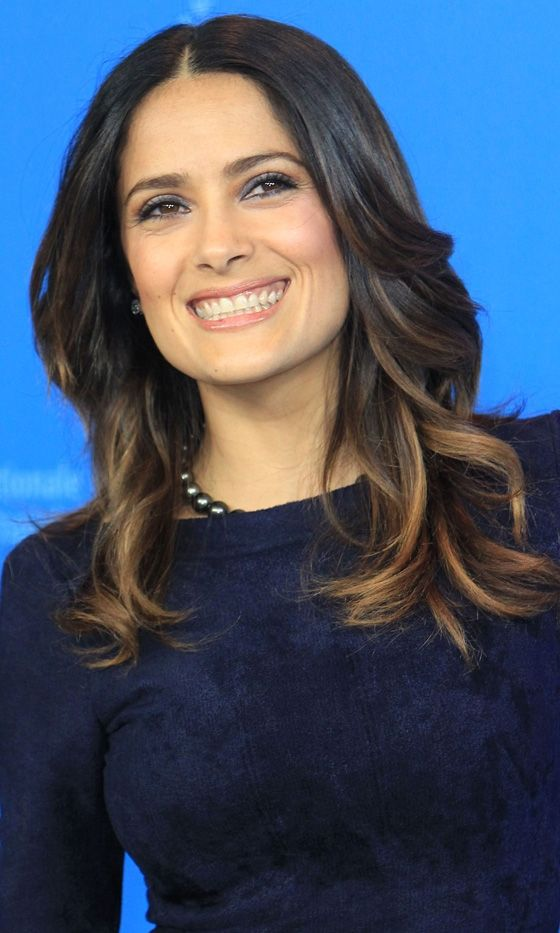 Salma Hayek Rocked A Subtle Dip-Dyed Hairstyle At Berlin Film Festival 2012