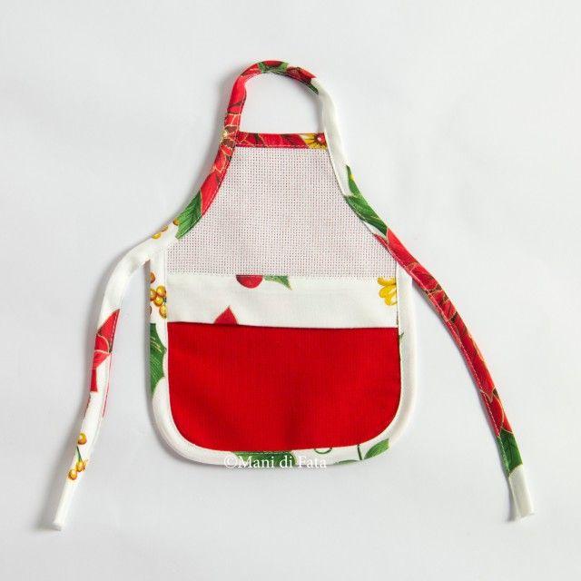 bufanda para botella navideña para bordar en punto de cruz