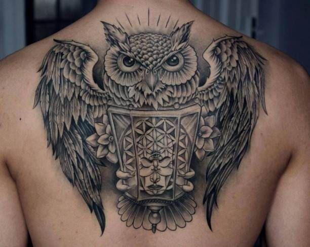 owl back tattoo tattoo tattooed tattoos back tattoos pinterest back tattoos owl and. Black Bedroom Furniture Sets. Home Design Ideas