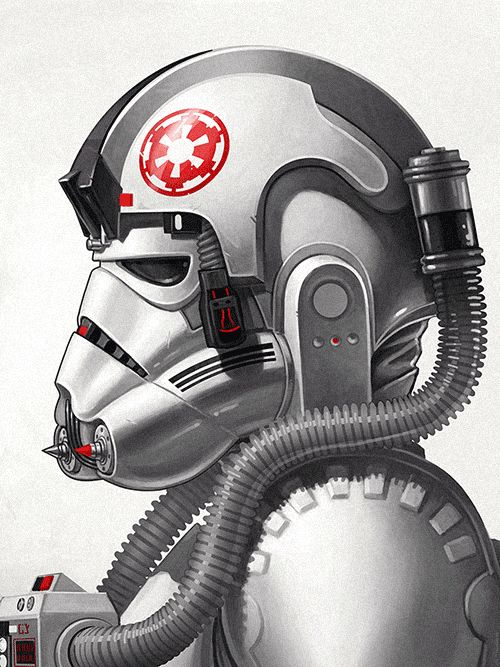"""sirmitchell: """"""""AT-AT Driver"""" - available as a print from Mondotees.com until Sunday at noon! """""""