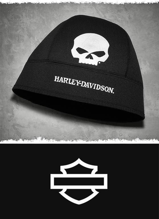 When the temps register in the low digits, reach for this one. | Harley-Davidson Men's Skull Cold Weather Neoprene Beanie