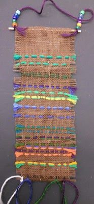 Burlap weaving/sewing - want to do this again (1st)