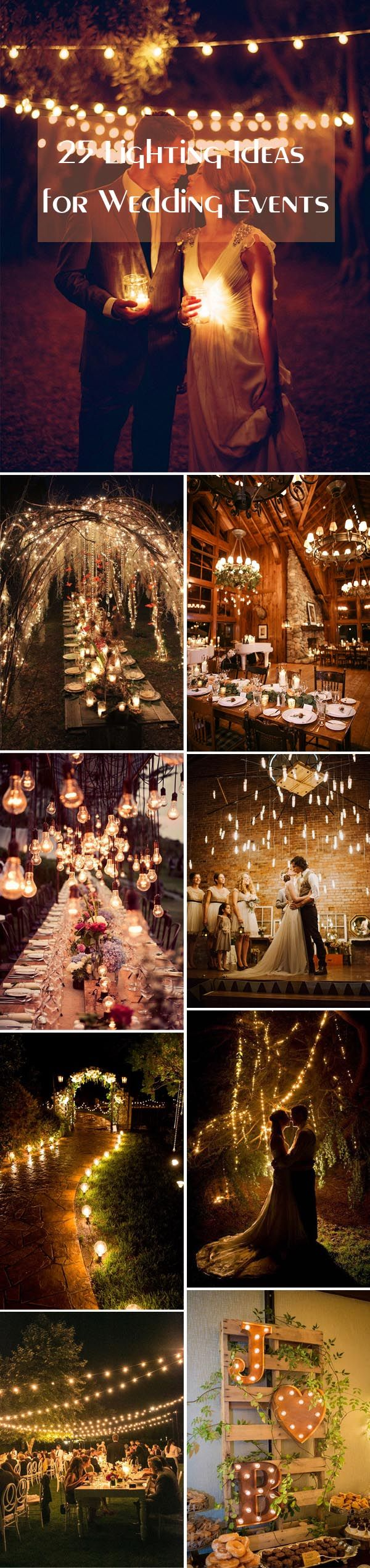 25 stunning lighting ideas for wedding events