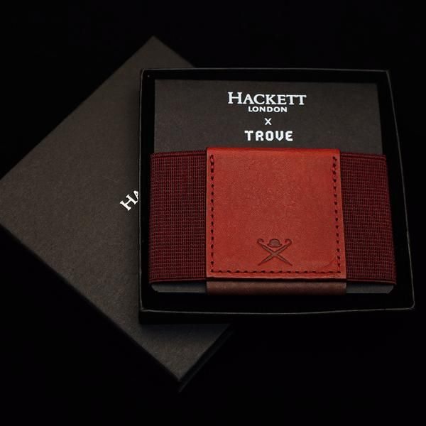 This is our second Special Edition TROVE wallet in collaboration with global luxury brand HACKETT London. Created in joint venture with Jeremy Hackett, this exc