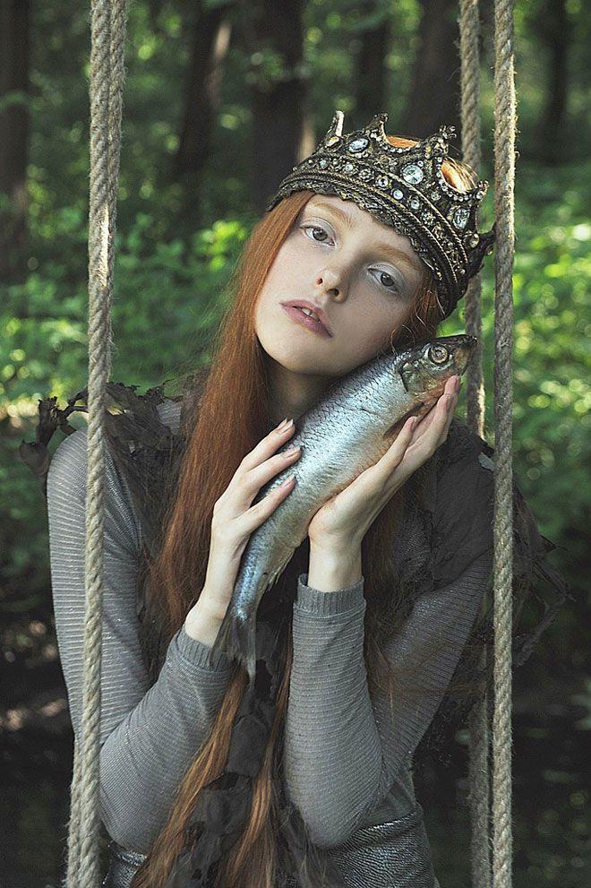 by Nika Kurnosova withOlga Moskvina.  Tiara.Photographers, Models, Crowns, Queens, Fish, Nika Kurnosova, Princesses, Mermaid, Olga Moskvina