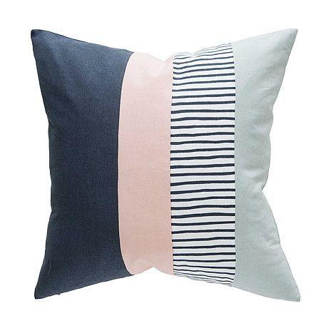 CUSHION | block design in blush by milk + sugar | Cranmore Home
