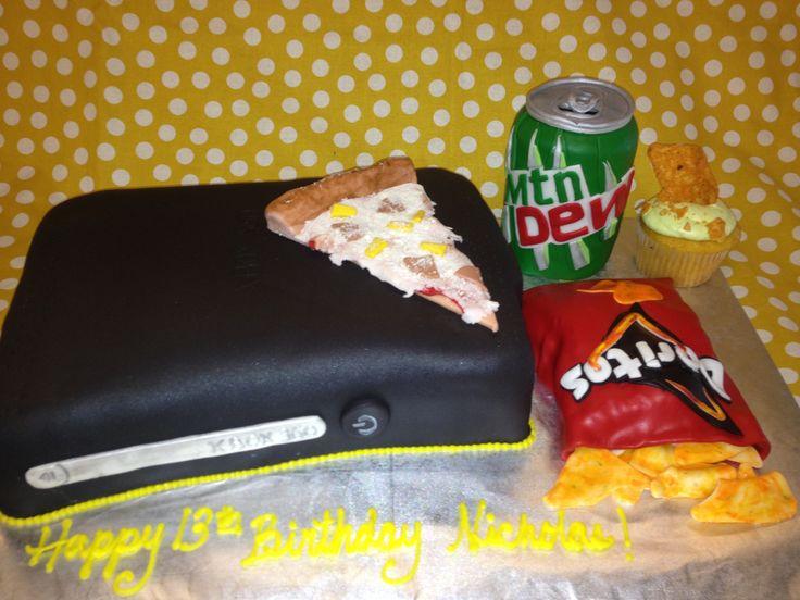 Xbox doritos and mountain dew cake oh my gorgeous cakes