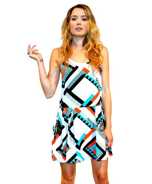 Pattern Pleat Dress from Something Else $149