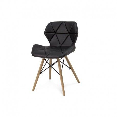 137 Designerskie nowoczesne tapicerowane miękkie krzesło do restauracji z przeszyciem ekoskóra HILE 024