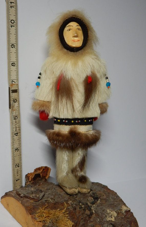 VINTAGE Inuit Eskimo DOLL Traditional Clothing: Leather ...