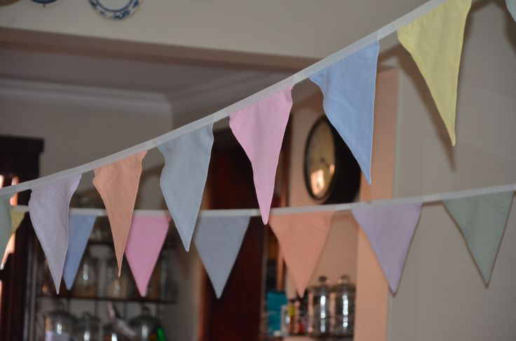 pastel bunting...perfect for a baby girls first birthday