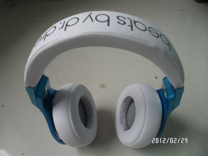 Monster Beats by Dr. Dre Pro Headphones Blue White