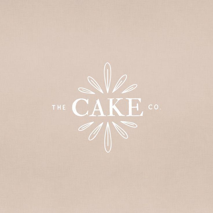 the cake co logo branding, feminine branding design simple, minimalistic